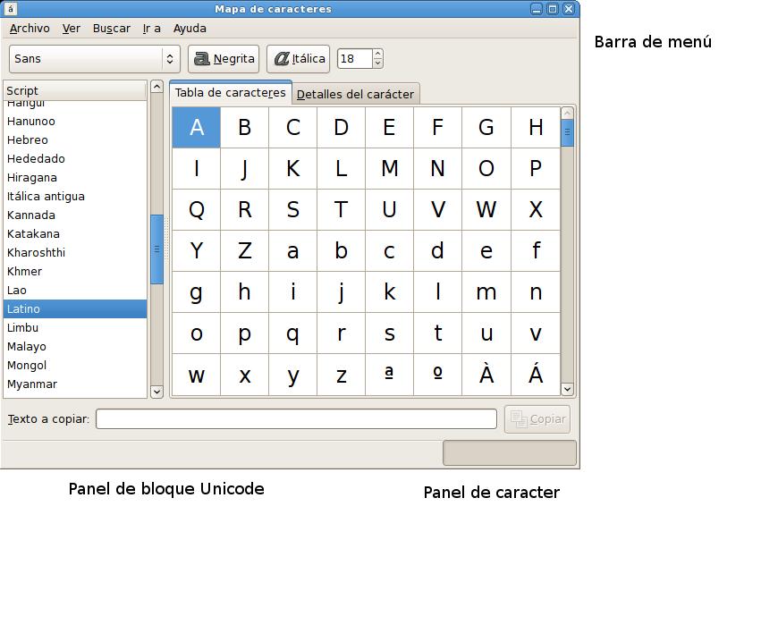 help/es/figures/gucharmap_start_window.png